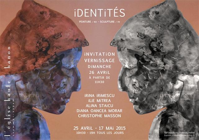 Invitation au Vernissage de l'Exposition iDENTiTÉS